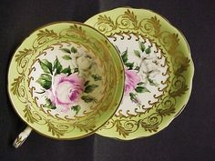 Teacup Set by Foley Cup and Saucer Gold gilt by lasadana