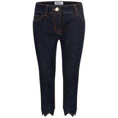 Moschino Blue Denim Cave Girl Style Jeans