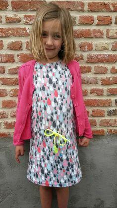 "Tricot kleedje met stof van Bobby Sewing, patroon uit magazine ""La maison Victor"""