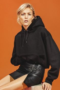 We already deemed hoodies the new cool-girl staple last spring, and with fall just around the corner it is still ringing true. Not only did we recently spot model Kendall Jenner rocking one from Vetements while out in Los Angeles, we also came across this crazy-cool shot from IRO starring Anja Rubik in a black hoodie. What's important to note is that neither of these looks have anything to do with the gym—both are worn as an edgy addition to a fashion-forward ensemble fit for a night out...