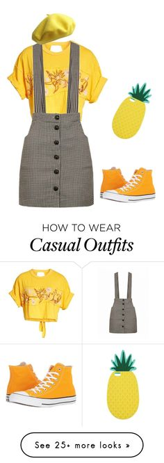 """Pineapple"" by julikalovestomato on Polyvore featuring Free People, Converse and Miss Selfridge"