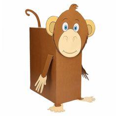 Aap surprise maken pakket. Compleet basis bouwpakket om een surprise van een aap te maken. Dit pakket bestaat uit de basismaterialen en instructies die u nodig heeft om een aapje te knutselen van ongeveer 38 x 50 cm, zoals op de 1e afbeelding. Daarna kunt u de surpise naar eigen wens versieren en personaliseren. Extra nodig: - Lijm - Schaar - Plakband / tape Ruimte voor kado: In het doosje is een ruimte van ongeveer 35 x 24 x 12 cm.