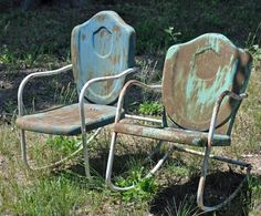 More metal chairs . . .