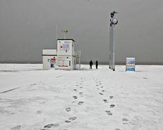 le havre - la plage un jour de neige