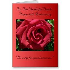 A Happy 60th Wedding Anniversary Card Rose