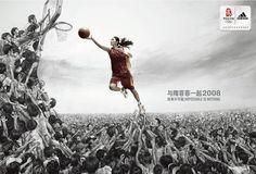 Sui Feifei in Adidas basketball print ad
