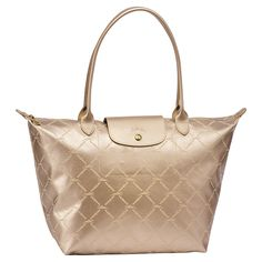 Longchamp LM Metal Tote in Gold for the summer
