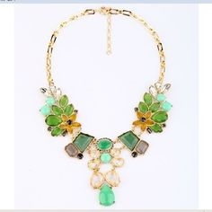 ix Crystal leaves Necklace Trendy Jewelry