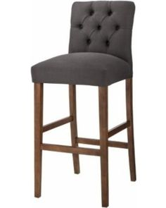 "Barstool: Threshold Brookline Tufted 30"" Barstool - Charcoal"