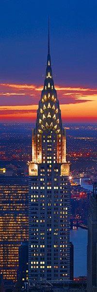 Chrysler Building by night, New York City, United States.