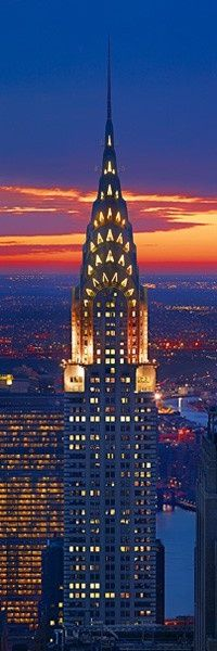 Chrysler Building by night, New York City, United States.