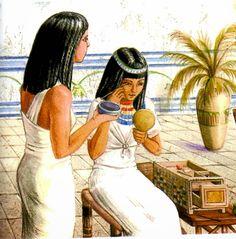 #Egipto utilizaban la Henna para teñir el pelo,uñas, manos etc