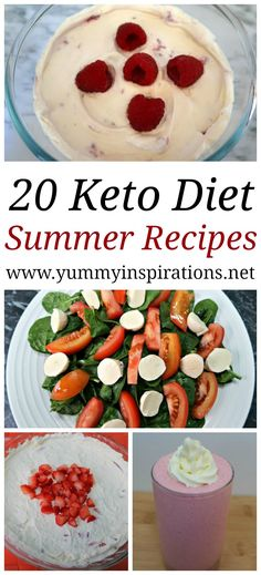 20 Keto Summer Recipes - Easy Low Carb and Ketogenic Diet Meals, Salads, Drinks, Smoothies and Desserts that are perfect for Summer.