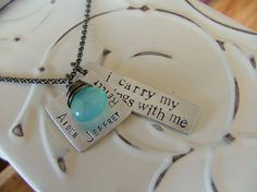 Custom stamped Mommyn necklace...I carry my blessings with me.  https://www.facebook.com/MyBellaByLizLollar