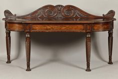 ~ Antique Georgian Serving Table, c. 1820 England ~ onlinegalleries.com