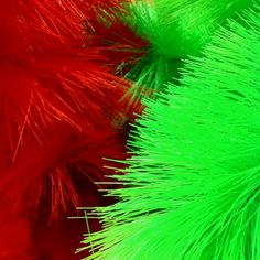 Bright red and green faux Christmas trees.  http://www.arcreactions.com/