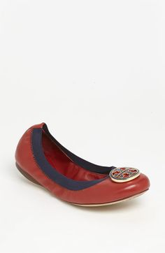 Tory Burch 'Caroline' Flat available at Nordstrom...1/2 yearly sale, totally a good price for them...cross your fingers my class gets me a giftcard there b/c these babies are mine1