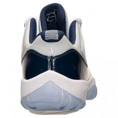 the best attitude 932fe 8b270 New Air Jordan 11 (XI) Retro Low Grey Mist White-Midnight Navy shoes cheap  sale online.