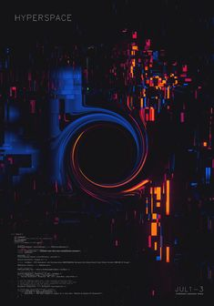 Hyperspace by Mark Chang on ArtStation. Graphic Design Layouts, Graphic Design Posters, Layout Design, Design Art, Design Typography, Graphic Wallpaper, Poster S, Glitch Art, Cultura Pop