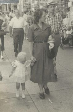 Mom and me in 1951 walking the sidewalks in Paterson, NJ.  Happy Mother's Day to all you Moms out there!