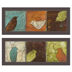 Patricia Pinto 'Lovely Birds I & II' Framed Art Print - Overstock™ Shopping - Top Rated Prints