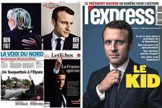 Le triomphe d'Emmanuel Macron à la une de la presse française