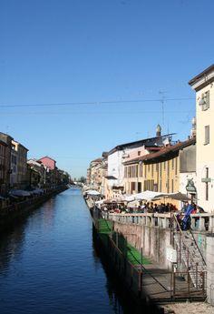 Naviglio Grande, Milan. The oldest of the canals.  http://www.milanoarte.net/it/tour/tour-dei-navigli-e-della-milano-medievale