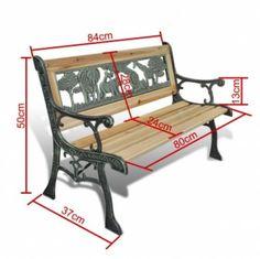 Garden Vintage Bench Yard Seat Children Backrest Kids Seater Patio Furniture