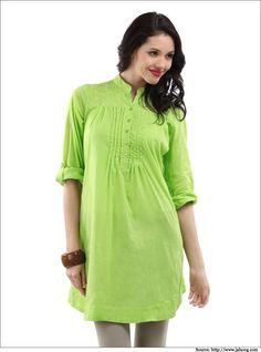 Green-Chikankari-Biba-kurtis-for-women