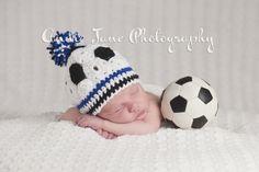 newborn soccer ball hat