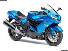 La Kawasaki Ninja ZZR1400R ostenta el titulo de la motocicleta de producción en serie más potente (cuya aceleración también es la mayor) del mundo. #motos #kawasaki #japon