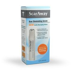 ScarAway Silicone Gel Scar Treatment, Scar Diminishing Serum with Massaging Applicator, 0.2-Ounce for only $17.98