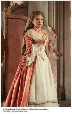 Mozart's The Marriage of Figaro. Countess Almaviva.