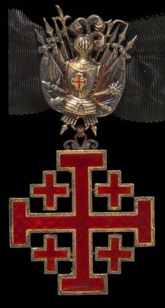 Modern-day emblem of the Equestrian Order of the Holy Sepulchre of Jerusalem. The Order is still working in Jerusalem.
