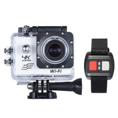 "4K Camera 2"" LCD Screen Wifi Action Camera 4X Zoom 16MP Sport Camera Waterproof 30M go pro Camera with Remote Control"