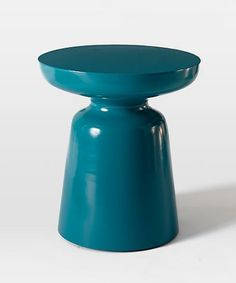 Martini Side Table in Bright Teal. Love this for small spaces. Sleek shape and I think it's really cute!