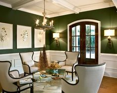 Cool Dark Green Living Room On Living Room With Dark Green Walls Home Design Ideas Pictures Remodel And Decor 3