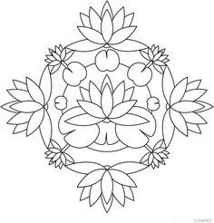 Free mandalas coloring > Flower Mandalas > Flower Mandala Design 6 - Lotus