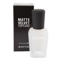 Buh Bye Shine... Zoya MatteVelvet Topcoat LE  - change any color to matte, just like that! #Zoya #MatteVelvet #MustHave #Beauty http://www.zoya.com/content/item/Zoya/Zoya-Matte-Velvet-Top-Coat.html