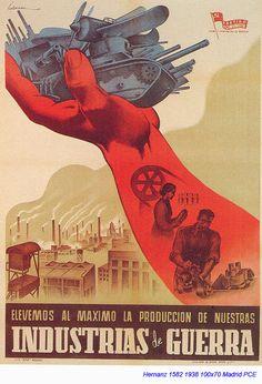 Memoria republicana - Carteles - Temas - Tanques Ww2 Propaganda Posters, Political Posters, Political Art, Spanish War, Civil War Art, Research Images, Soviet Art, World Of Tanks, Illustrations And Posters