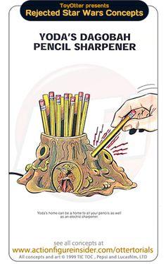 Rejected Star Wars Merchandise Concepts - Yoda's Dagobah pencil sharpener