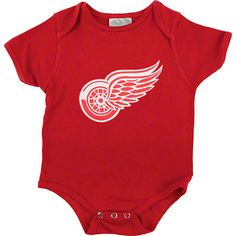 Detroit Red Wings Old Time Hockey Primary Logo Creeper