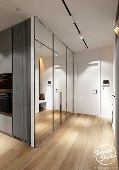 Luxury Kitchen Design, Apartment Interior Design, Living Room Interior, Bedroom Closet Design, Closet Designs, Home Design Floor Plans, Minimal Home, Hall Design, Sims House