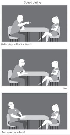 Speed Dating =] (sad to know I would be the man in this picture)