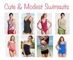 cute, modest swimsuits for every body type via Musings of a Housewife