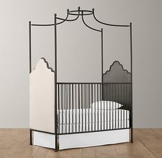 $1199 Augusta Iron Canopy Crib | Cribs | Restoration Hardware Baby & Child