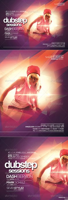 Dubstep Vol. 01 — Photoshop PSD #electro #pink • Available here → https://graphicriver.net/item/dubstep-vol-01/5101853?ref=pxcr