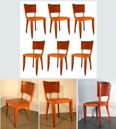 Suite de 6 chaises epoque art-deco