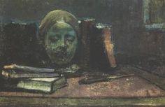 Máscara y Libros - (Wladyslaw Slewinski)
