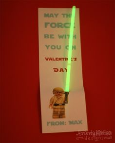 Perfect for a boy Valentine or Star Wars party favor.